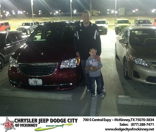 Happy Anniversary to Justin T Koons on your 2012 #Chrysler #Town And Country from Brent Villarreal  and everyone at Dodge City of McKinney! #Anniversary by Dodge City McKinney Texas