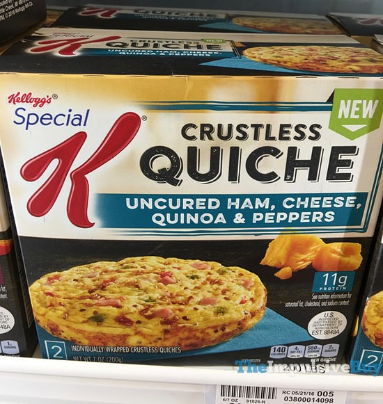 Kellogg's Special K Uncured Ham, Cheese, Quinoa & Peppers Crustless Quiche