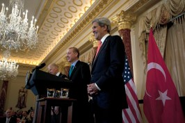 Secretary Kerry Listens as Turkish Prime Minister Erdogan Delivers Remarks from Flickr via Wylio