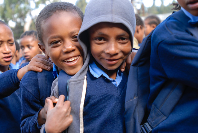 Students of Lions kids primary school in Entoto, Addis Ababa, Ethiopia