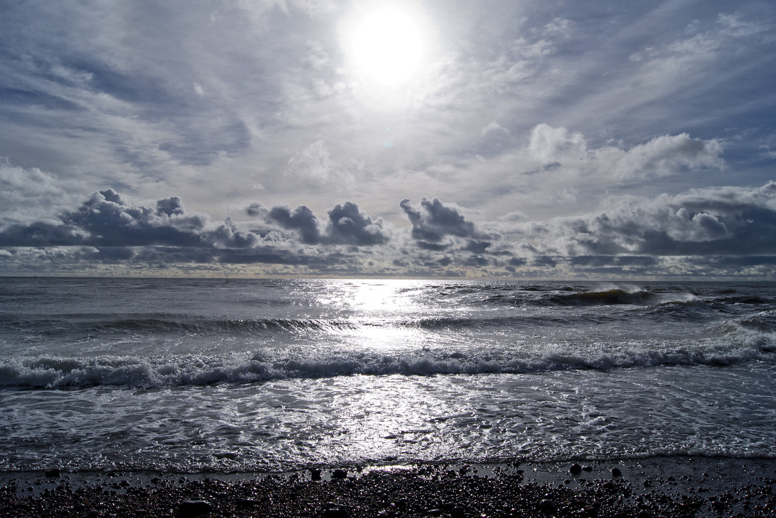 Wide angle photograph of sea at Seatton
