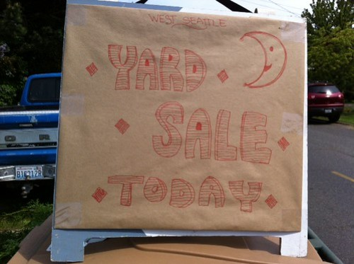 Yard sale today