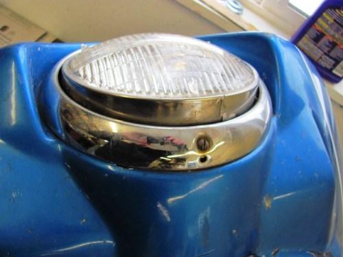 Bottom of Headlight Chrome Trim Ring with Screw