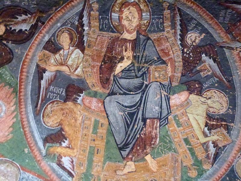 Turquie - jour 21 - Vallées de Cappadoce  - 112 - Çavuşin, Kızıl Çukur (vallée rouge) - haçlı kilise (église à la croix)