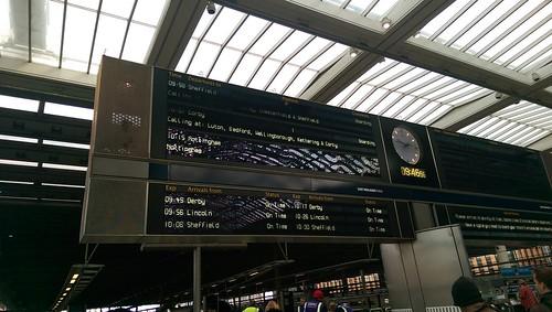 East Midland Mainline Departure/Arrival Board