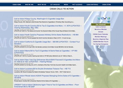 CASAA Calls to Action (e-Cigs)