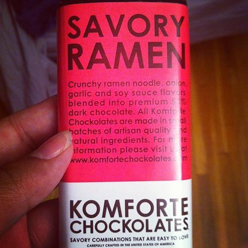 Ramen Chocolate with @abeh @lszinv