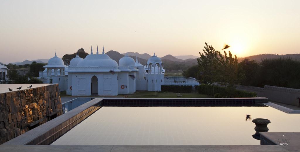 Sunset over the Aravali hills
