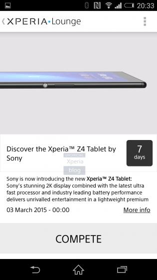 Xperia Z4 tablet Sony