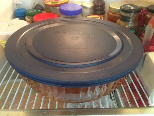 pork in brine in fridge