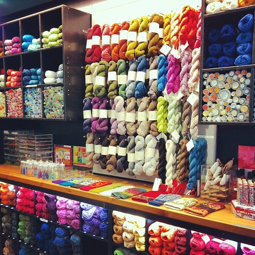 Quick stop at the #yarnstore before heading home #yarn @brooklyntweed #loft