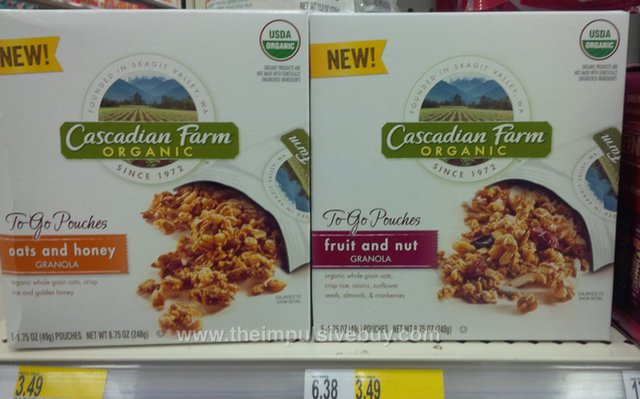 Cascadian Farm To-Go Pouches (Oats and Honey and Fruit and Nut)