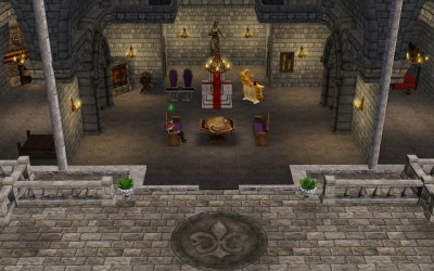 Games: Sims Medieval Layouts Throne Room