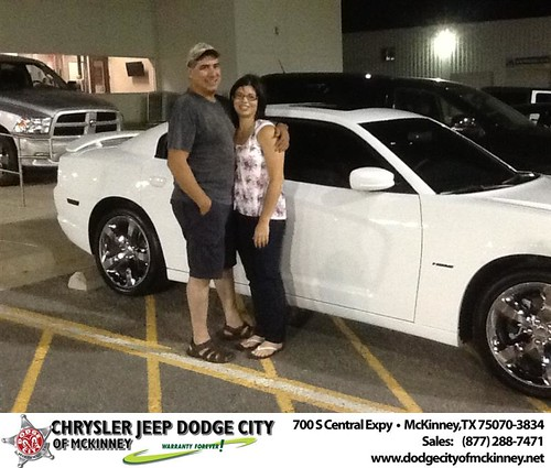 Thank you to Tency Garcia on your new 2013 #Dodge #Charger from Joe Ferguson  and everyone at Dodge City of McKinney! #NewCar by Dodge City McKinney Texas