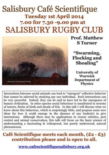 Poster for Prof. Matthew S Turner
