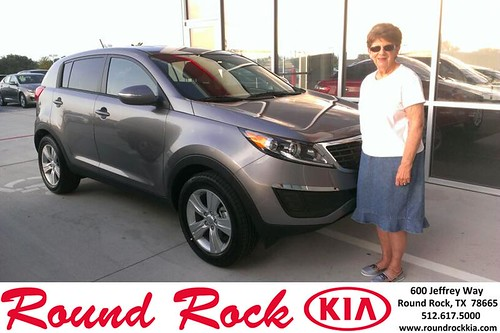 Thank you to Sharon Debaere on the 2013 Kia Sportage from Ruth Largaespada and everyone at Round Rock Kia! by RoundRockKia