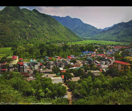 A view from step 1,153 in Mai Chau, Vietnam, Southeast Asia