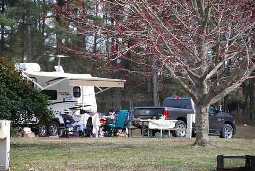 RV camping at Kiptopeke State Park - wintertime