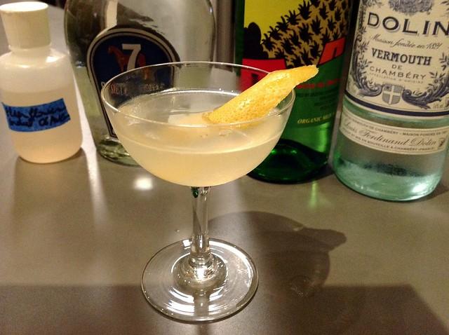 El Puente (Jim Meehan): tequila, grapefruit, white vermouth, homemade elderflower cordial, mezcal rinse