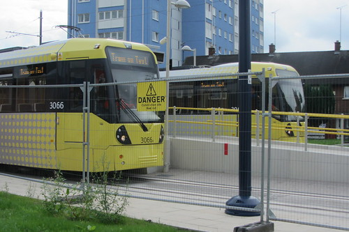 Ashton-under-Lyne tram testing (2)