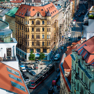 View from New Town Hall belfry, Prague