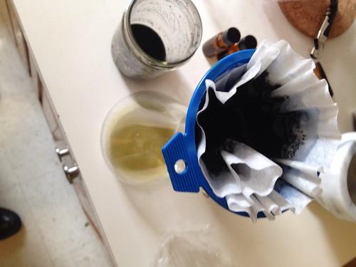 Alchemy: filtering dill spagyric