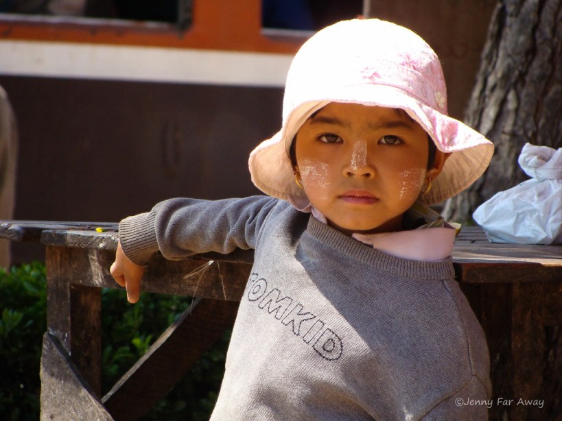 This child in Burma should be a model. Look at those eyes!
