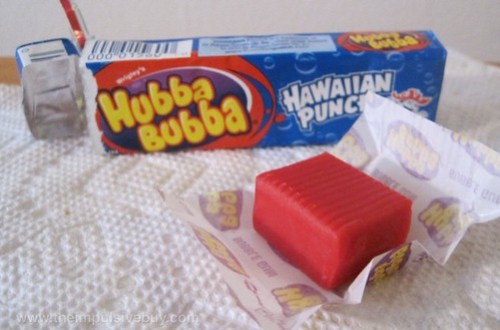 Wrigley's Hubba Bubba Hawaiian Punch Bubble Gum Unwrapped