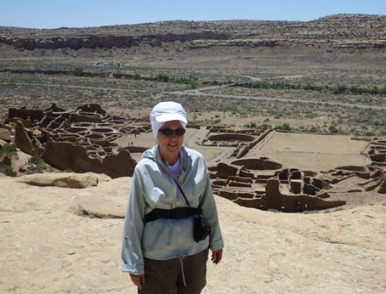 Mom overlooking Pueblo Bonito