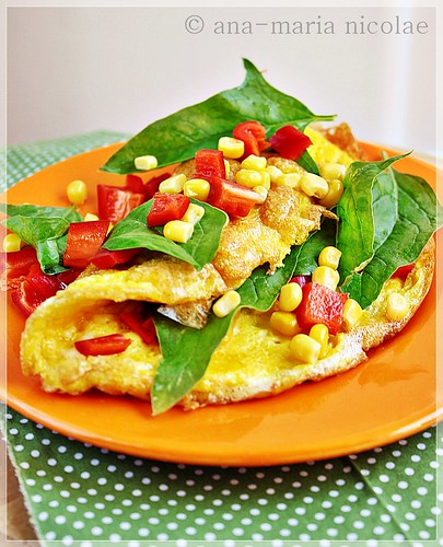 Mexican omlette