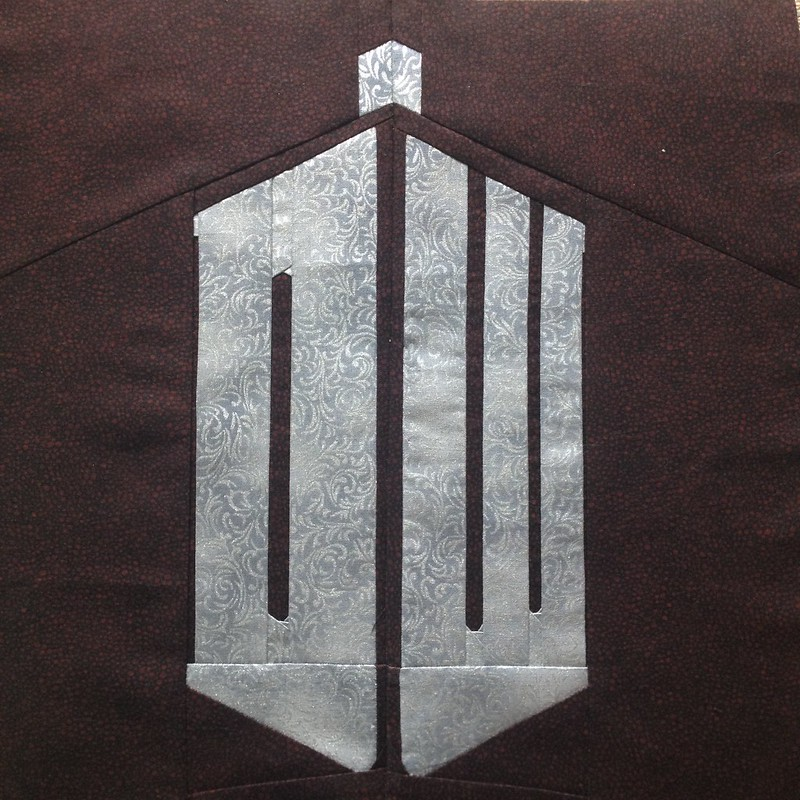 Image of Paper Pieced Doctor Who Logo