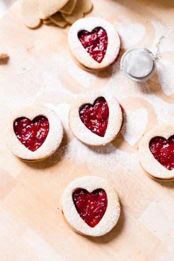 Almond Linzer Cookies