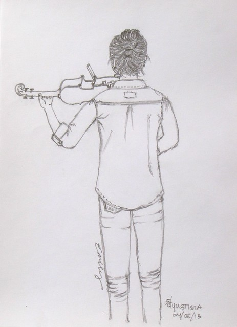 Sketch of A Violin Player
