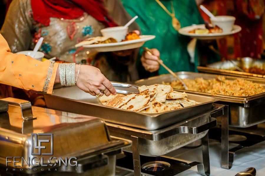 Food at Indian wedding