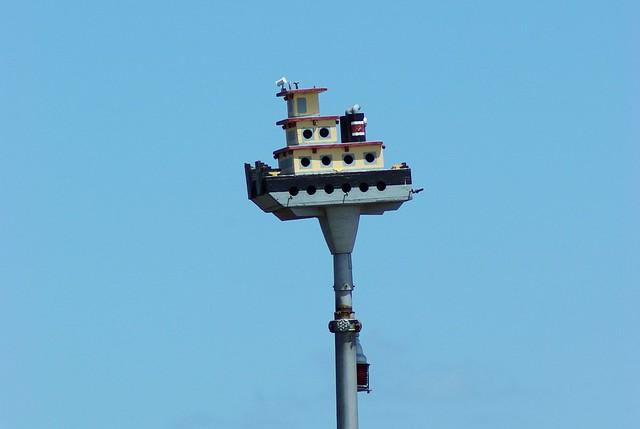 Tugboat Birdhouse on a pole, Clarksville, Missouri, June 8, 2007