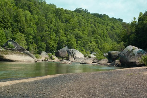 Cumberland Falls somewhere in Kentucky