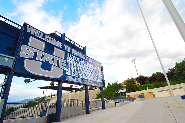 Romney Stadium 2013 Schedule for Utah State University