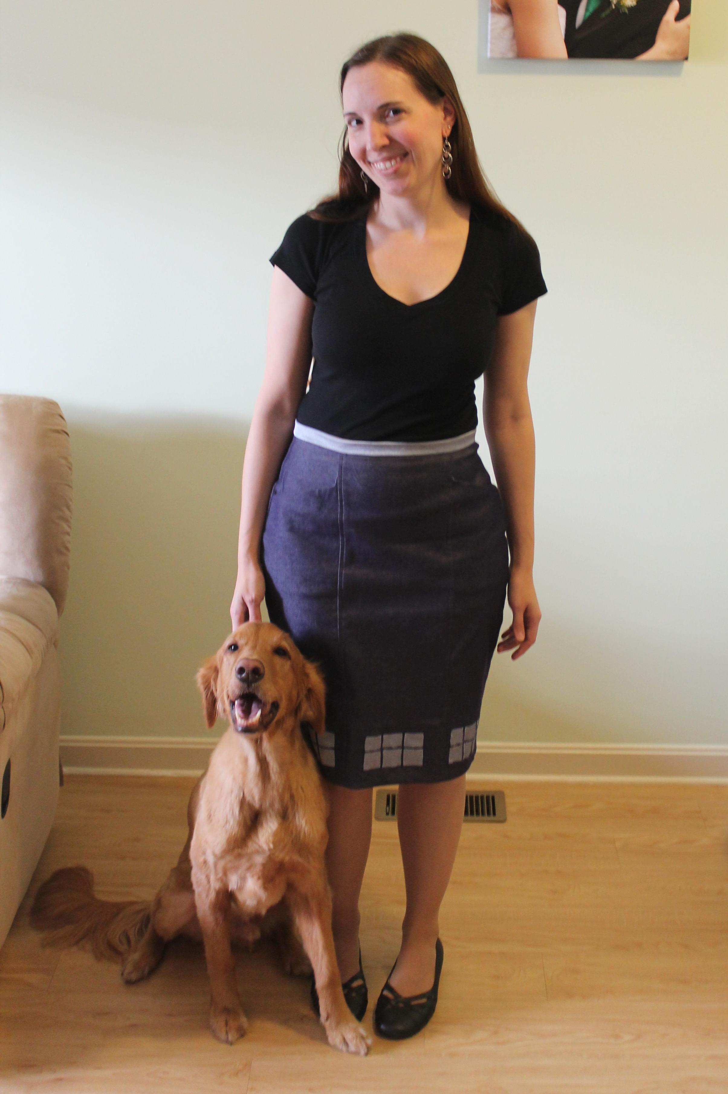 TARDIS-inspired skirt