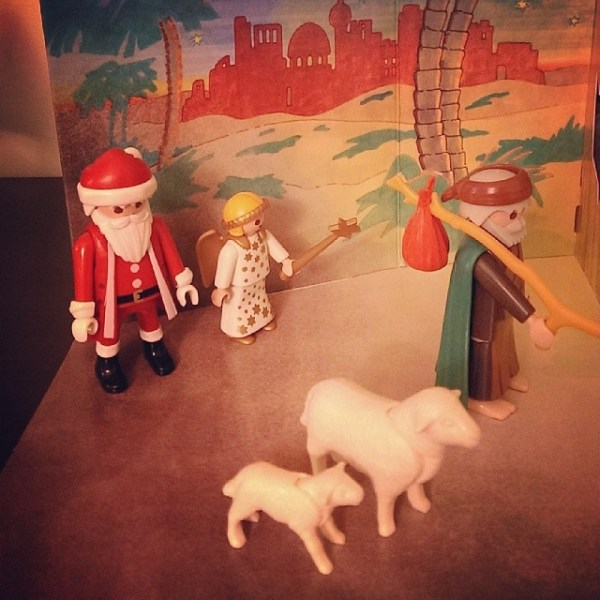 Nativity spectators.