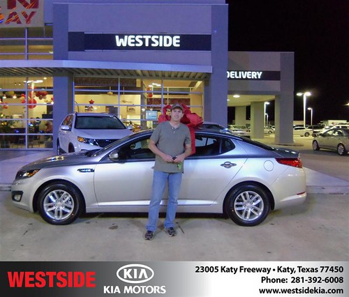 Happy Anniversary to Robert Reed on your 2013 #Kia #Optima from Rizkallah Elhallal and everyone at Westside Kia! #Anniversary by Westside KIA