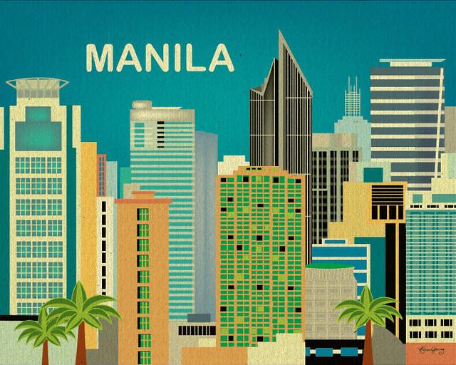 Manila poster by Loose Petals