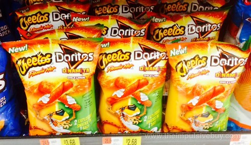 Cheetos Flamin' Hot and Dortios Dinamita Chile Limon