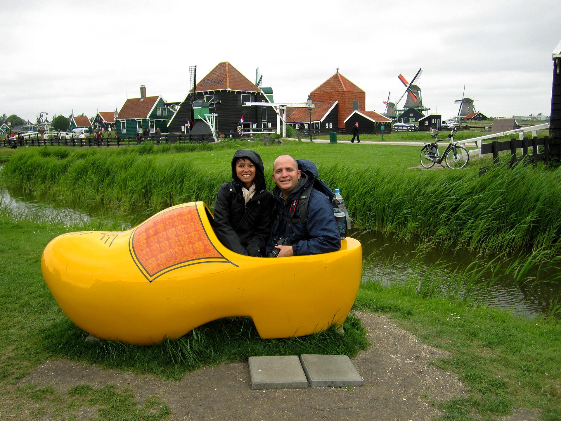 A cold day in the yellow shoe, Zaandijk.