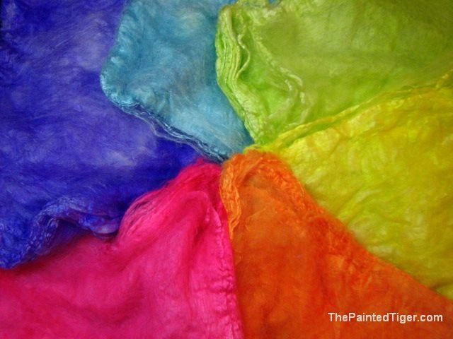 Tropical Rainbow Silk Hankies