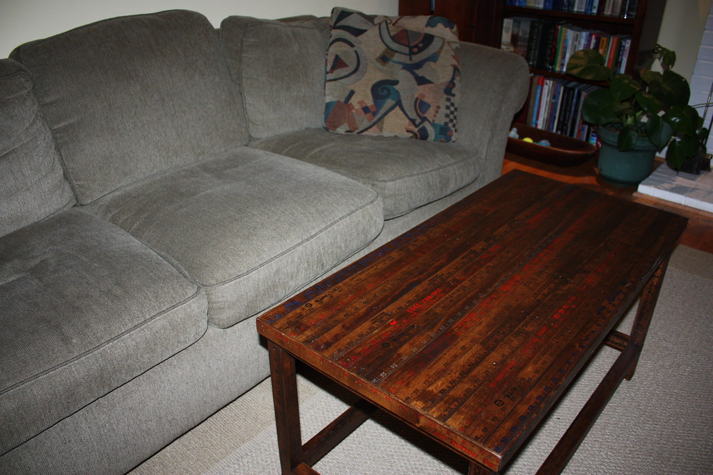 Coffee table and couch