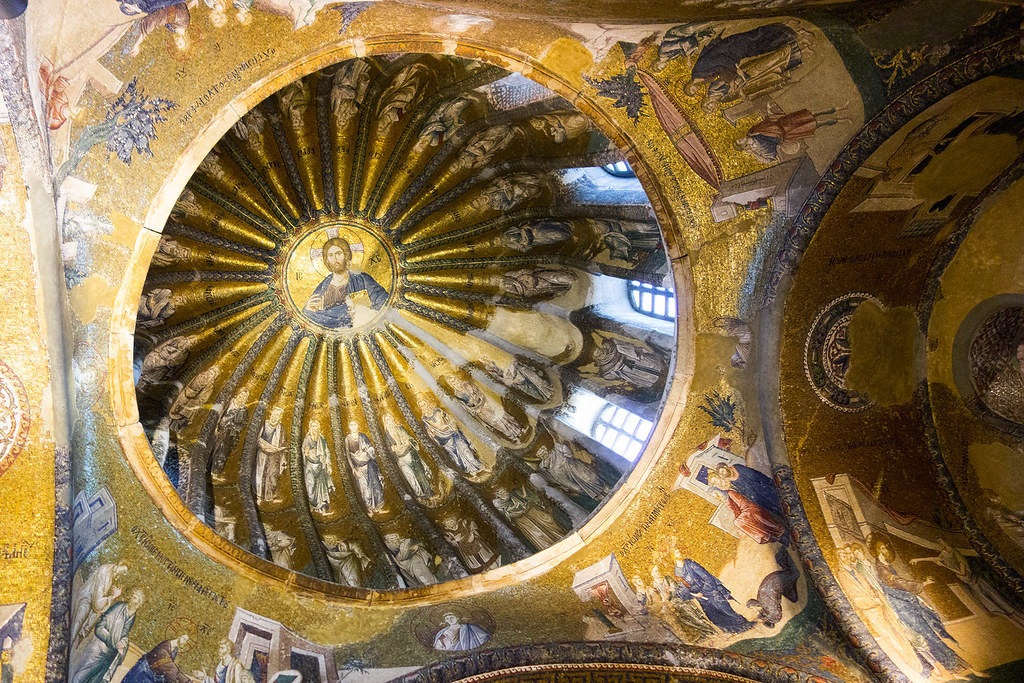 Ceiling mosaics in the Chora Church, Istanbul.