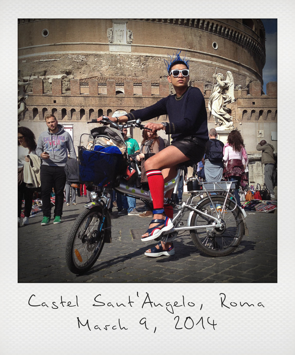 Bryanboy outside the Castel Sant'Angelo in Rome, Italy