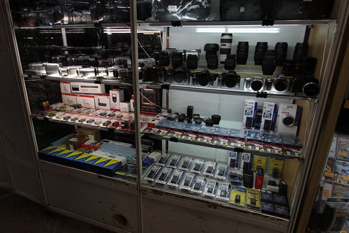 Selection of camera equipment on sale