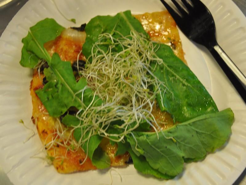 Aragula and Alfalfa on Pizza