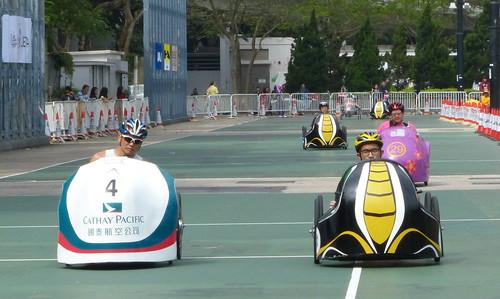 Fierce racing during the Hong Kong Pedal Kart 2013